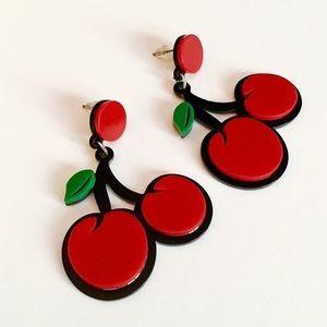 NWT Fab Flavor Cherry Earrings